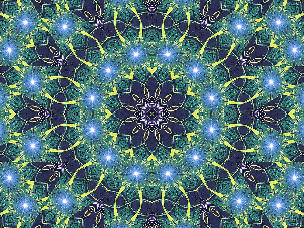 Dark Star Zodiac Central Tesselations  (UF0268) by barrowda