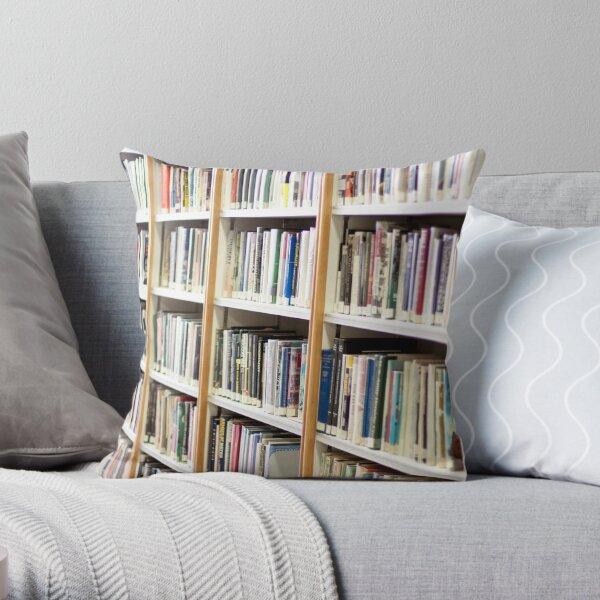 State Library of Western Australia bookshelves  Throw Pillow