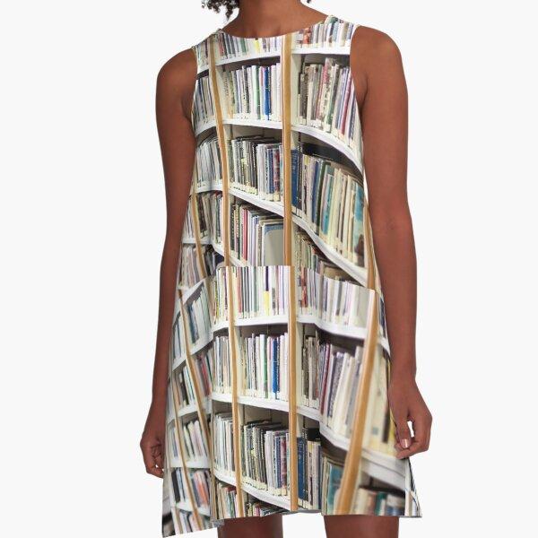 State Library of Western Australia bookshelves  A-Line Dress