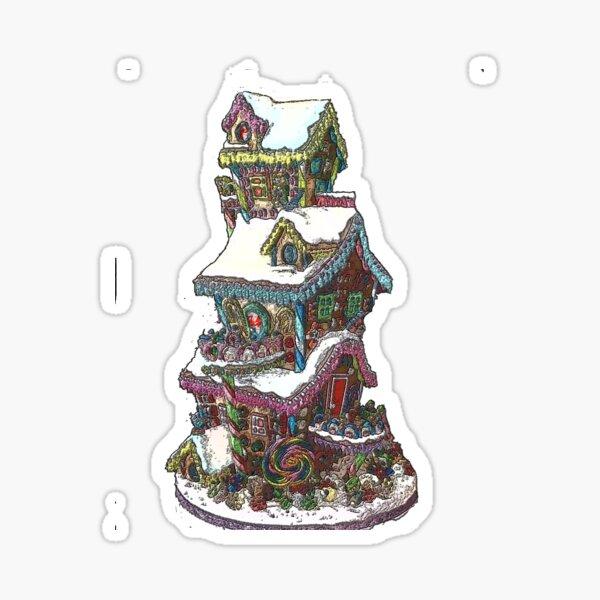 Gingerbread House 1 Sticker
