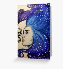 goddess of stars Greeting Card