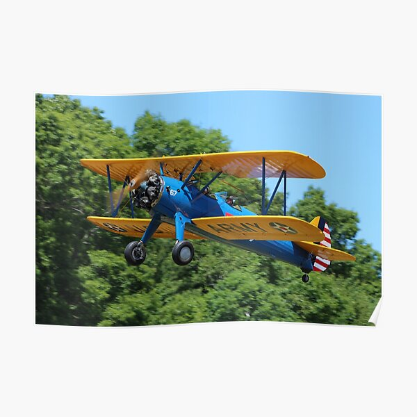 Boeing-Stearman Kaydet Biplane Trainer Aircraft Poster