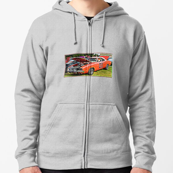 Supercharged V8 HEMI Petrolhead Hotrod Racing Magnum MOPAR Racing Dodge CHARGER 440 Classic Muscle Car Hoodie Mens Black