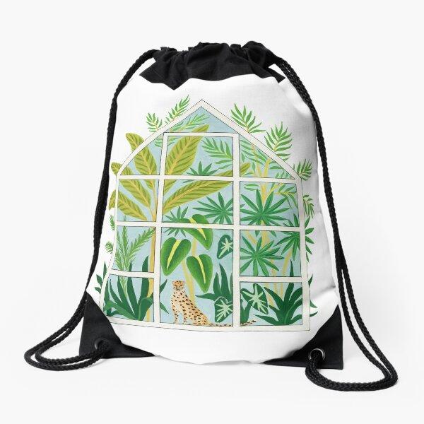jungle greenhouse Drawstring Bag