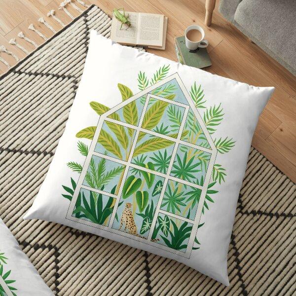 jungle greenhouse Floor Pillow
