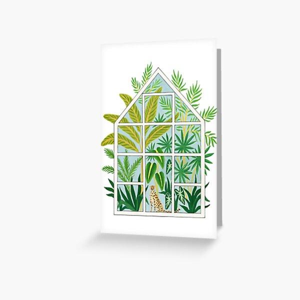jungle greenhouse Greeting Card