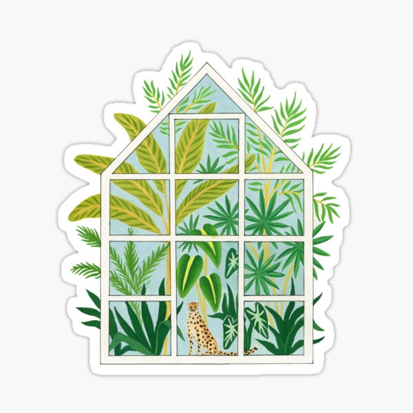 jungle greenhouse Sticker