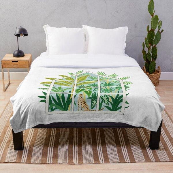jungle greenhouse Throw Blanket