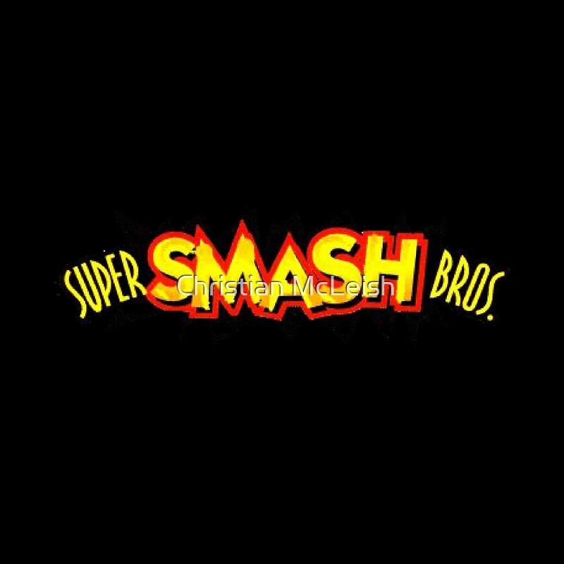 """super smash bros. 64 logo"""" drawstring bagschristian mcleish"""