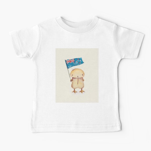 Kwii & NZ flag for kid clothes Baby T-Shirt