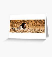 sun and sand Greeting Card