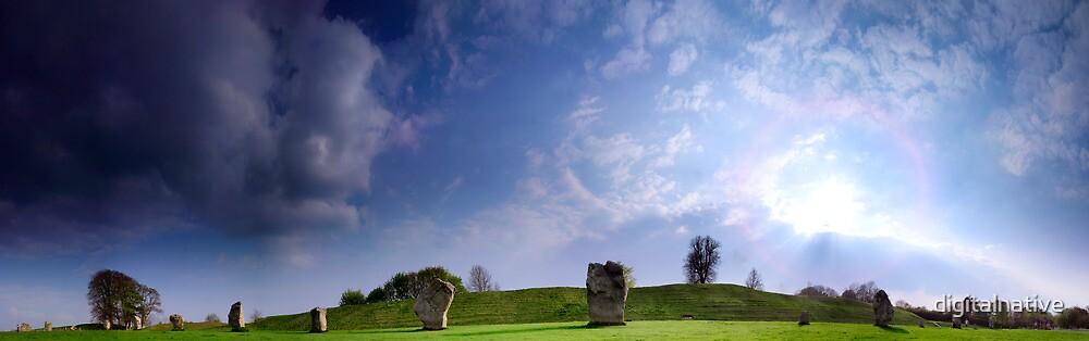 Avebury Panorama by digitalnative