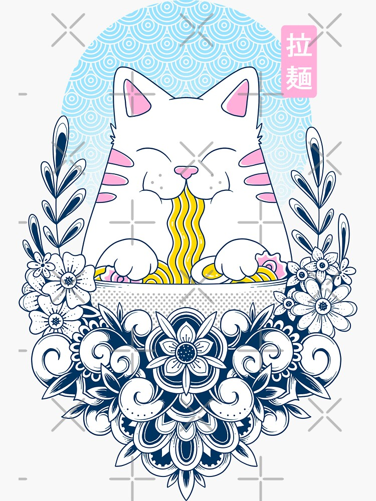 Ramen Cat by GODZILLARGE