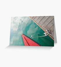 Fishing Boats: Sea and Clouds Greeting Card