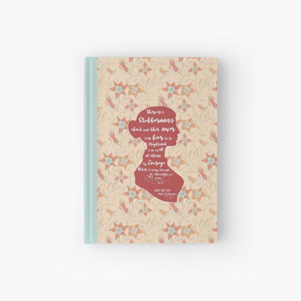 Jane Austen - Pride and Prejudice quote.  Hardcover Journal