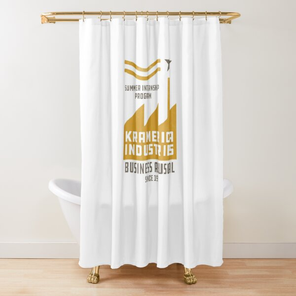 Kramerica Industries Summer Internship Program - Business as Usual (Since 1997) [distressed] Shower Curtain