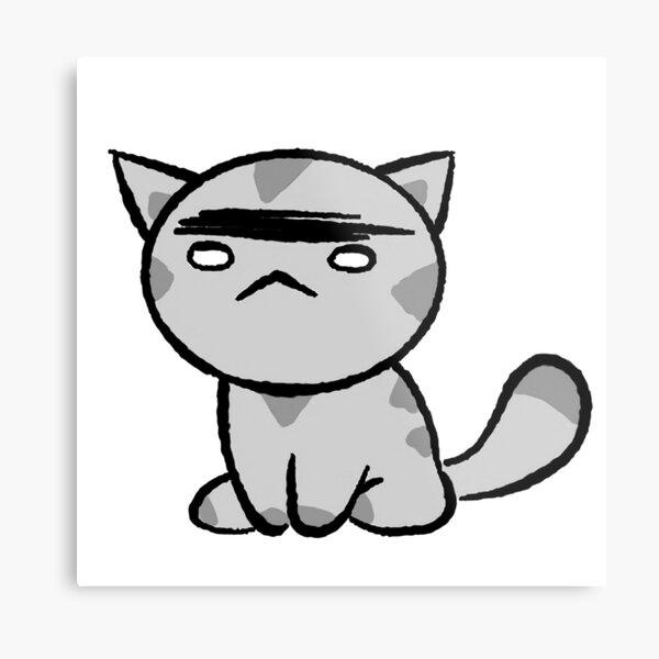 Grumpy Cat Chibi Metal Print
