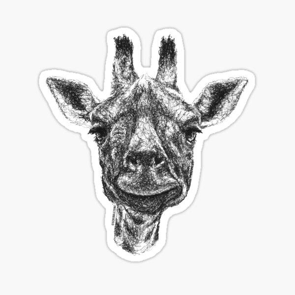 Scribbled Giraffe Sticker
