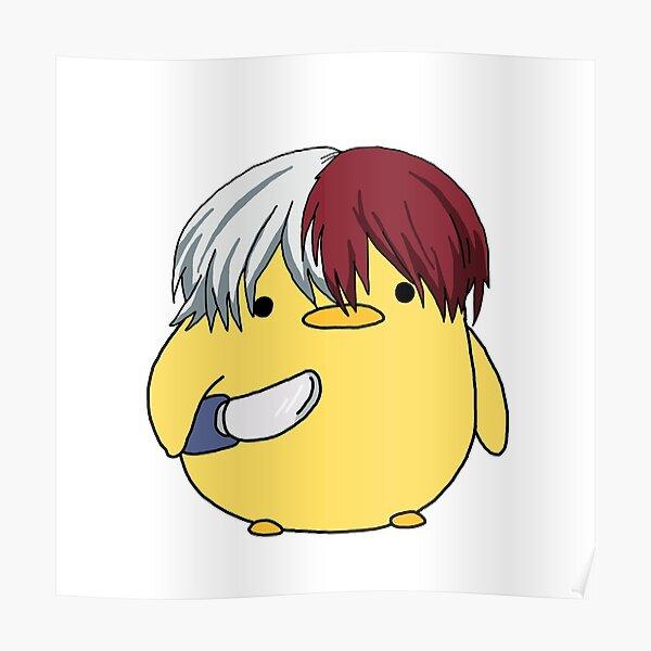 My Hero Academia Shoto Todoroki Knife Chick Meme Póster