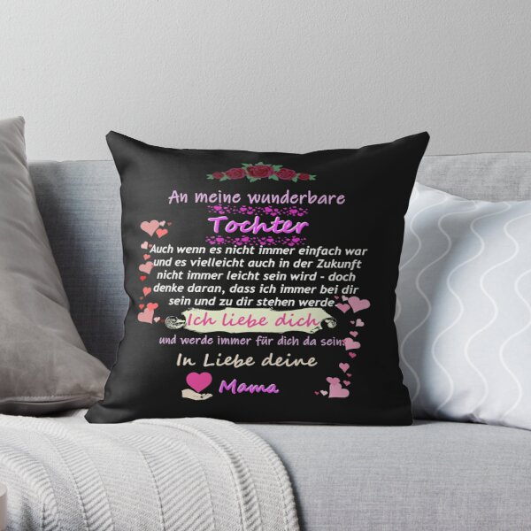 Wonderful daughter-mother saying Throw Pillow