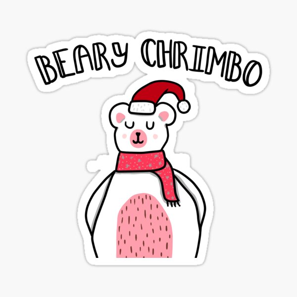 Beary Chrimbo - Festive Polar Bear Sticker