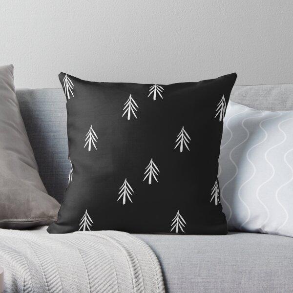 nordic fir trees Throw Pillow
