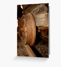 Gold Mining trolley - HILL END NSW Greeting Card