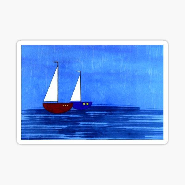 Sail Boat Sea Birds Sailing JDM Drift Euro Funny Vinyl Decal Car Sticker Laptop