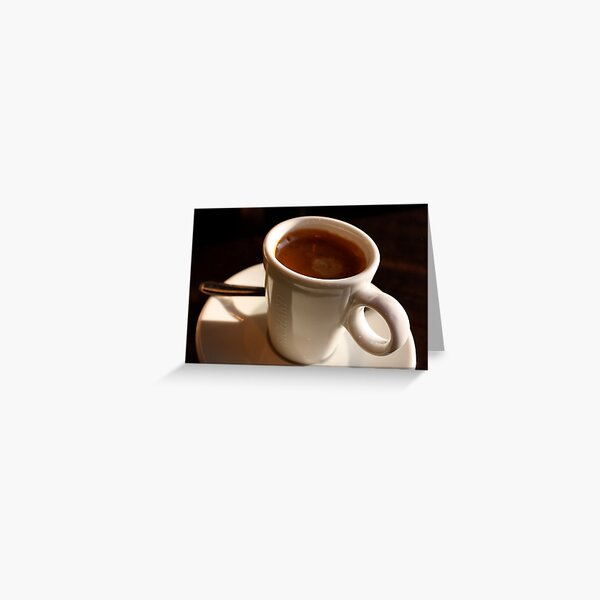 A coffee for Evelyn, but anyone else can join! Greeting Card