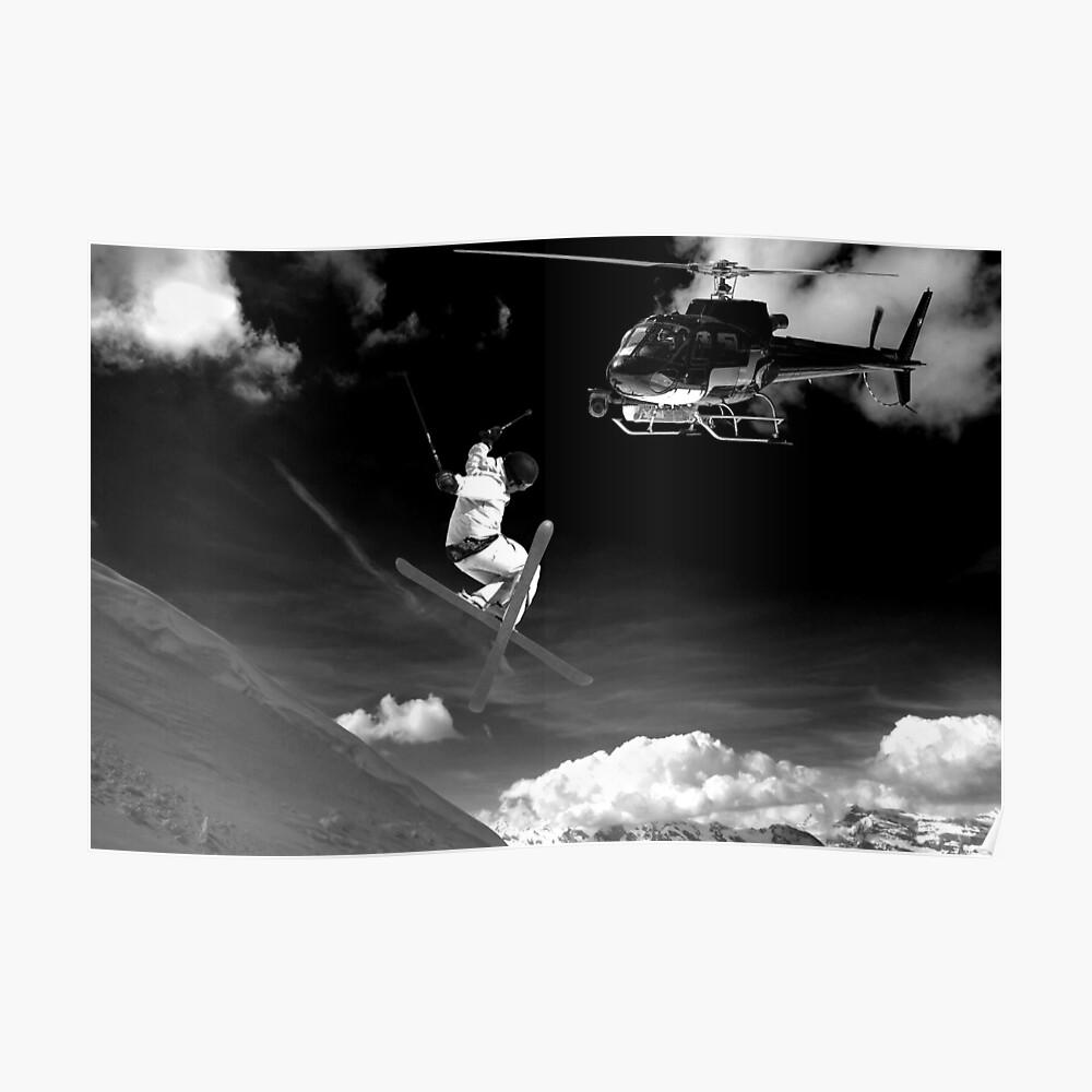 ski jump stunt Poster