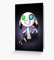 Bink and His Creepy Doll Greeting Card