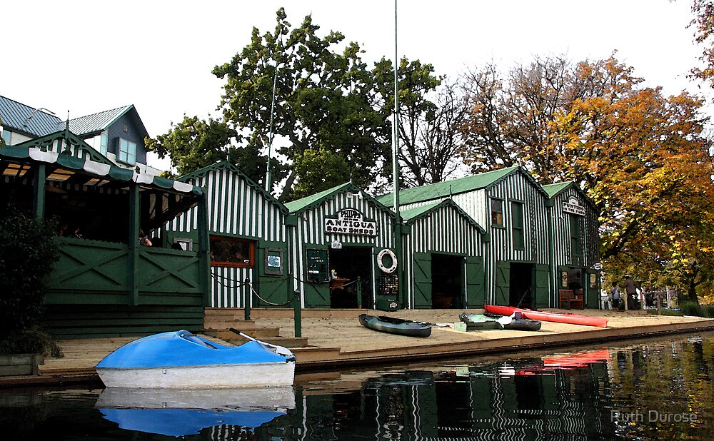 Antigua Boat Sheds - River Avon, Christchurch, New Zealand by Ruth Durose