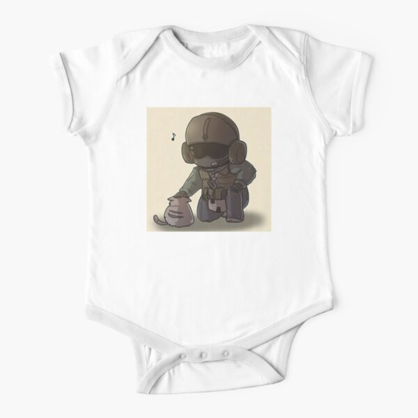 Army Love Animals Short Sleeve Baby One-Piece