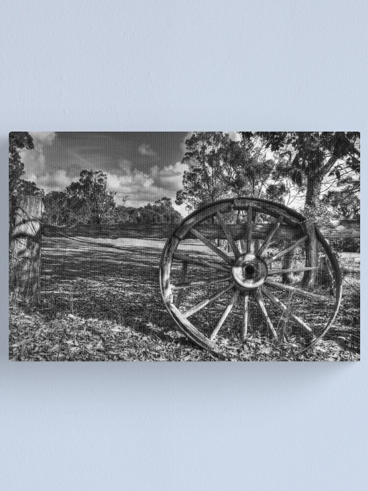 Alternate view of Wagon Wheel Canvas Print