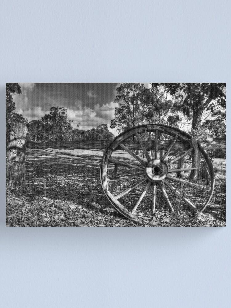 Alternate view of Wagon Wheel Canvas Print