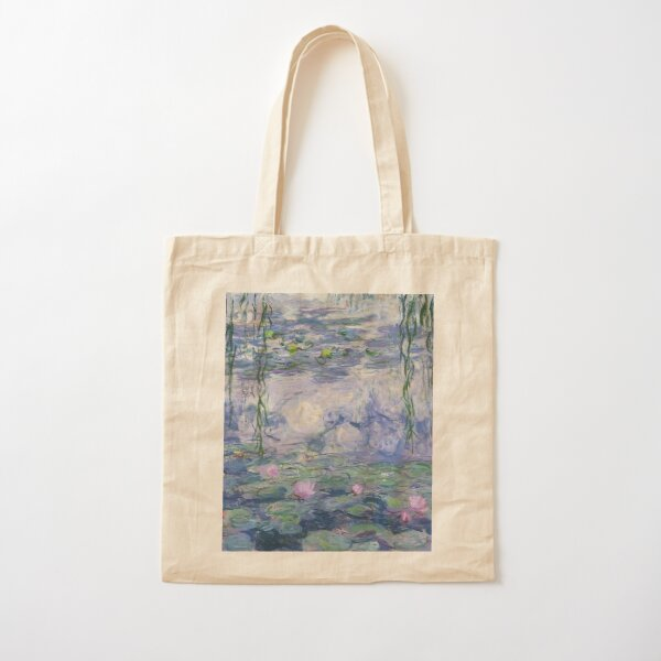 Water Lillies Cotton Tote Bag