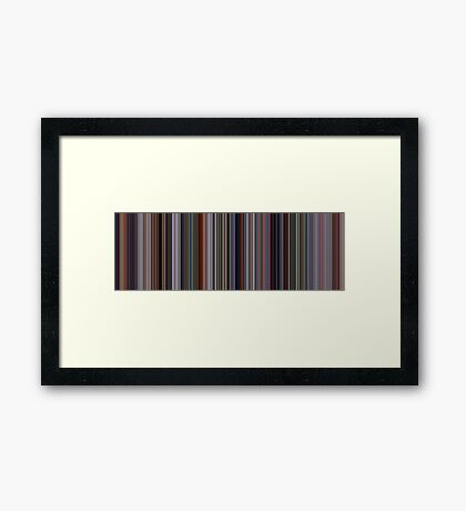 Moviebarcode: The Incredibles (2004) [Simplified Colors] Framed Print