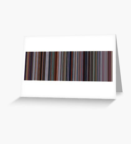 Moviebarcode: The Incredibles (2004) [Simplified Colors] Greeting Card