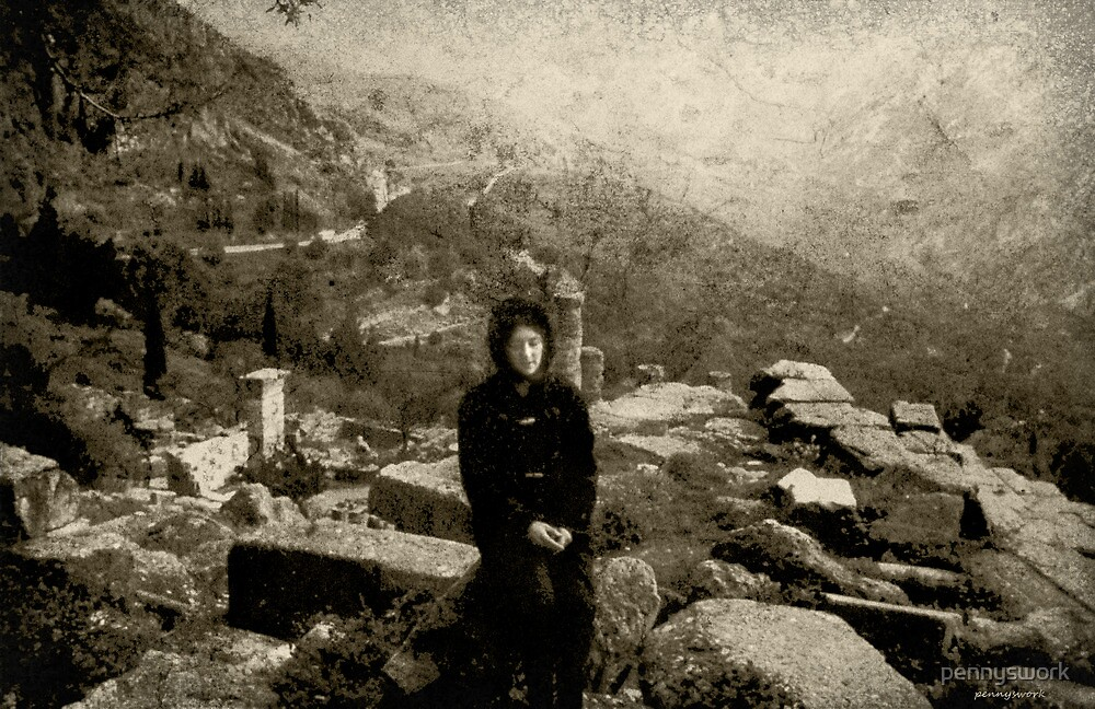Me at Dephi, Greece 1969 by pennyswork