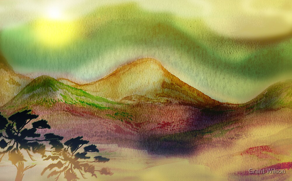 Watercolour Scene 1 by Grant Wilson