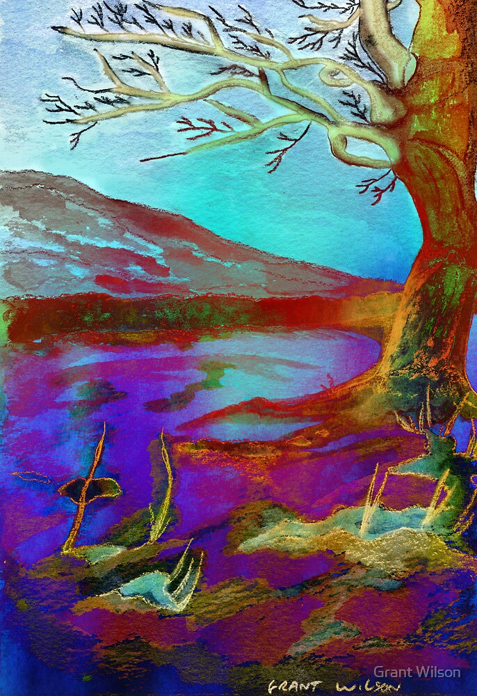 Watercolour Tree Napier University by Grant Wilson