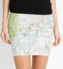 USGS Topo Map Oregon Klamath Falls 280412 1985 24000 Mini Skirt