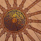 detail of the main dome in the blue mosque by Iris MacKenzie