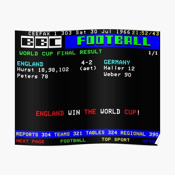 1966 World Cup Final England CEEFAX Poster