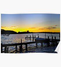 Sunset Manning River Poster