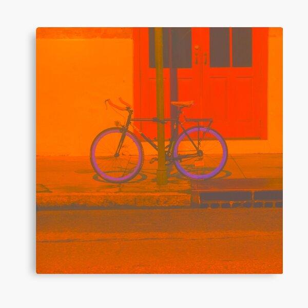 Biking Along Canvas Print