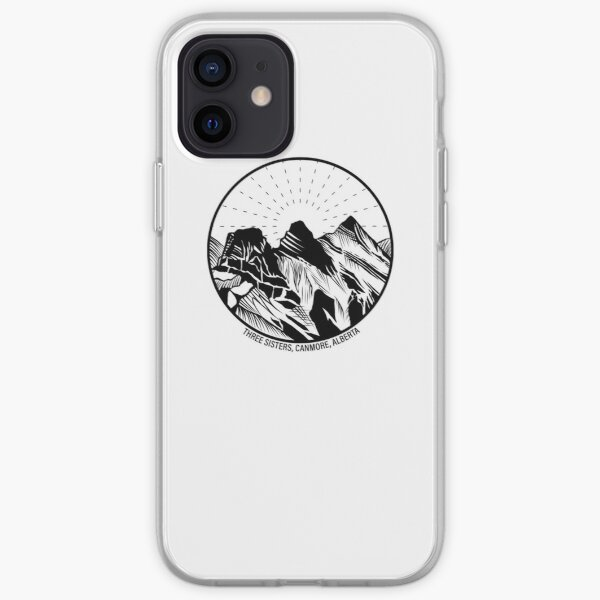 Three Sisters Mountains, Canmore, Alberta, Canada iPhone Soft Case