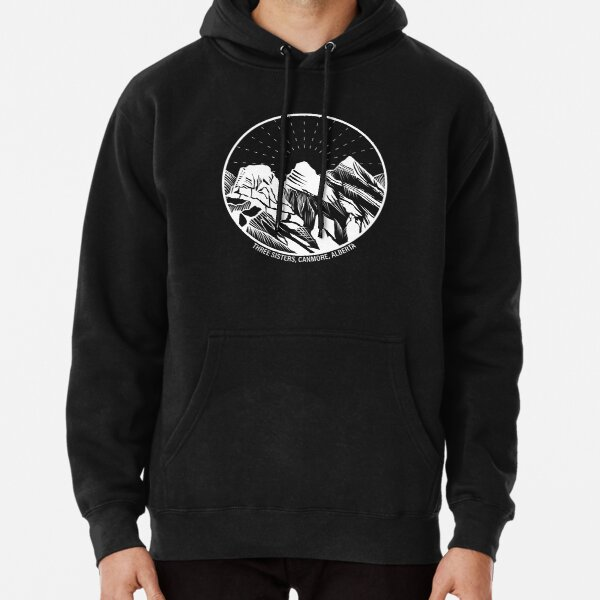 Three Sisters Mountains, Canmore, Alberta, Canada Pullover Hoodie