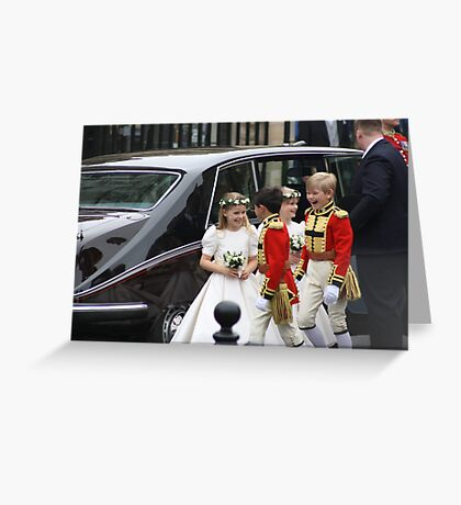 THE BRIDESMAIDS AND PAGE BOYS Greeting Card