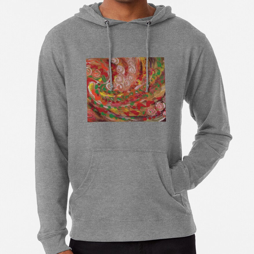 swirling curls abstraction Lightweight Hoodie